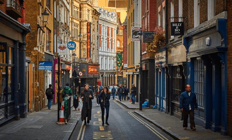 Soho District in London