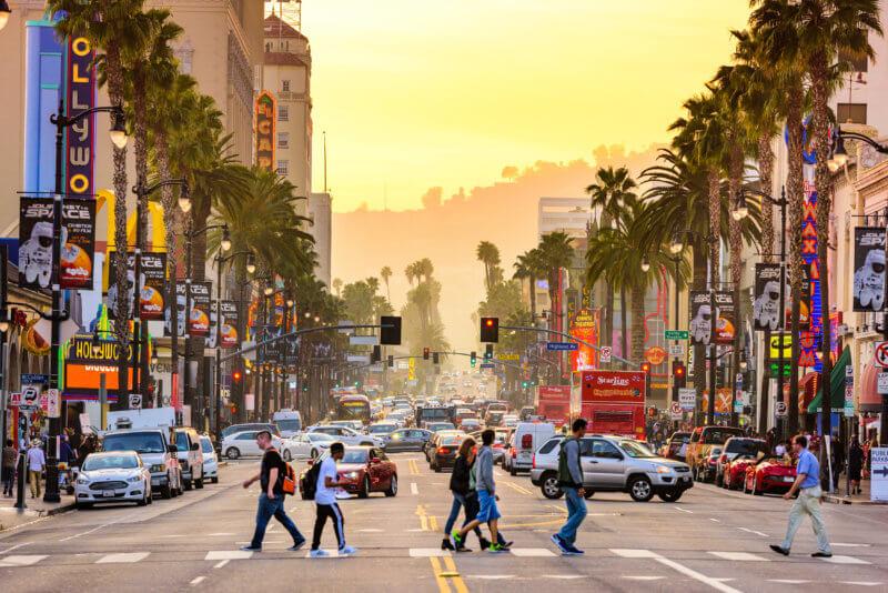 LA crossroad
