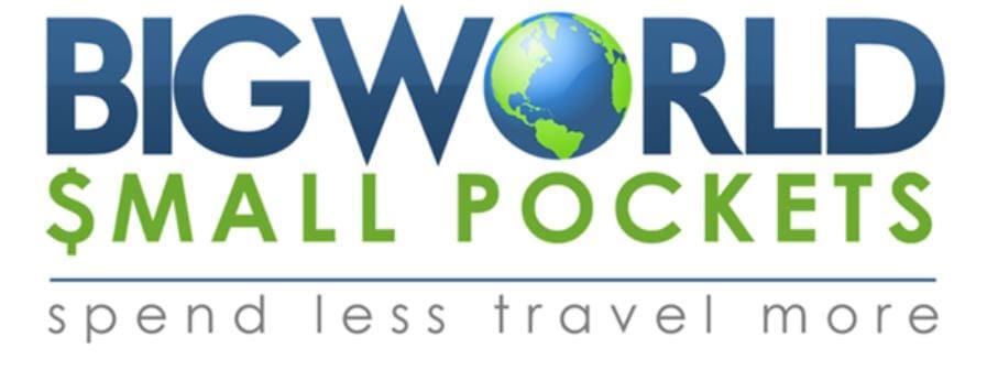 big world small pockets travel blog logo