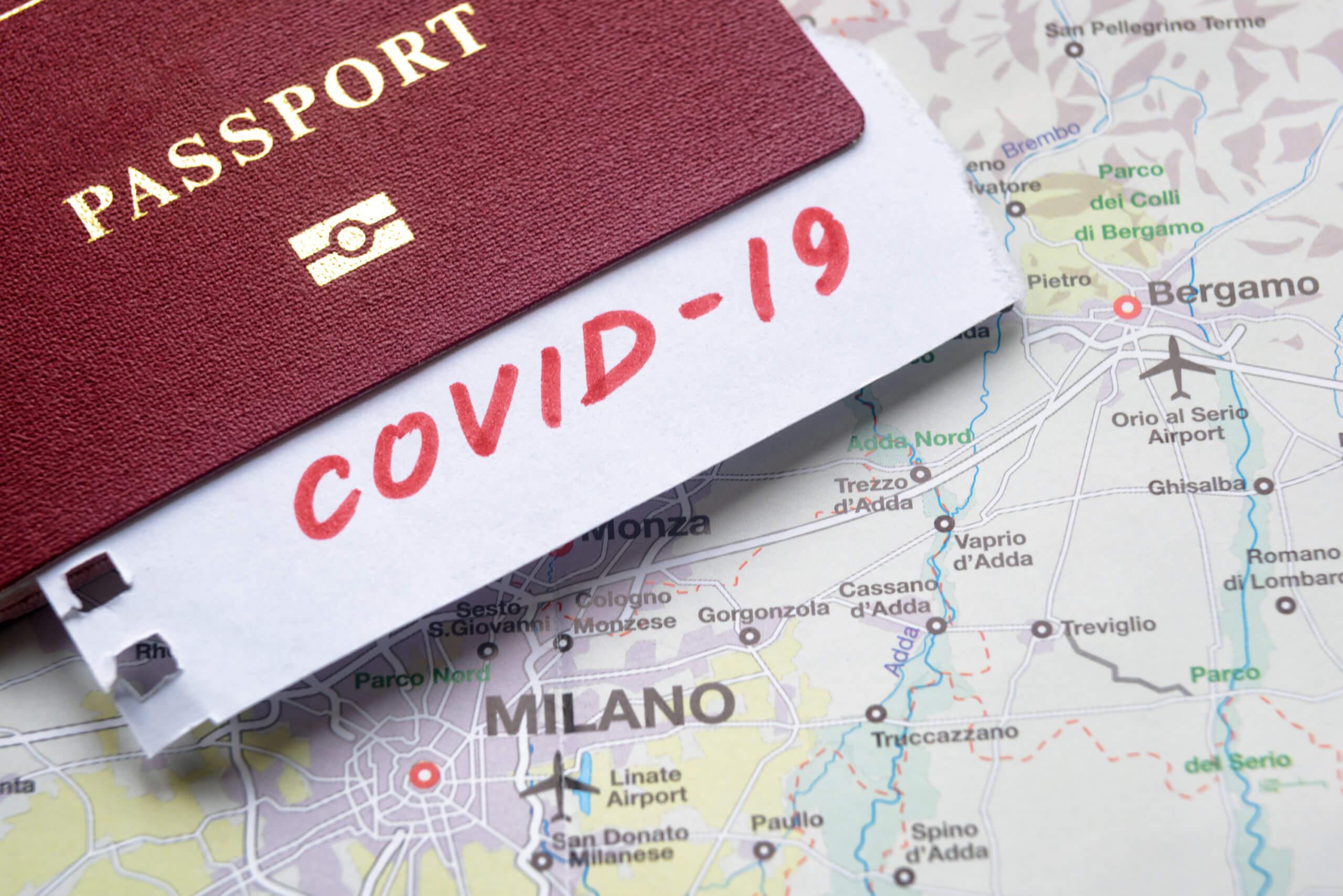Travel information coronavirus Milan